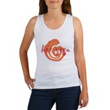 red hot yoga swirls design Women's Tank Top