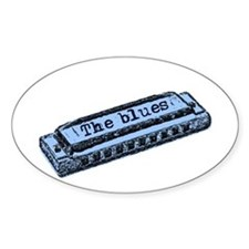 Blues Harp Oval Decal