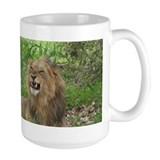 Coffee Mug with Angry Male Lion