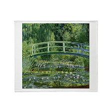 Monet Japanese Bridge Throw Blanket