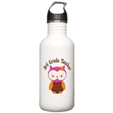3rd Grade Teacher Gift Water Bottle