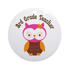 3rd Grade Teacher Gift Ornament (Round)