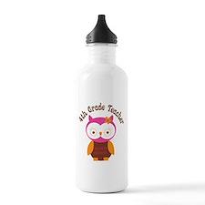 4th Grade Teacher Gift Water Bottle