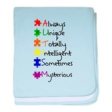 What Autism Means To Me baby blanket