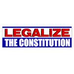 """Legalize The Constitution!"" Sticker (Bu"