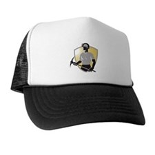 Coal Miner With Pick Ax Shiel Trucker Hat