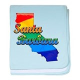 Santa Barbara, California. Gay Pride baby blanket