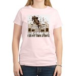 Hunter, Jumper Horse Stunts Women's Pink T-Shirt