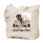 Hunter, Jumper Horse Stunts Tote Bag