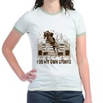 Hunter, Jumper Horse Stunts Jr. Ringer T-Shirt