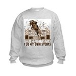 Hunter, Jumper Horse Stunts Kids Sweatshirt