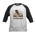 Hunter, Jumper Horse Stunts Kids Baseball Jersey