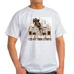 Hunter, Jumper Horse Stunts Ash Grey T-Shirt
