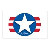 USA Classic Star: Rectangle Decal