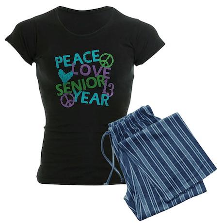 PEACE LOVE SENIOR 2013 Women's Dark Pajamas