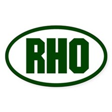 RHO Oval Decal