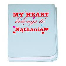 I love Nathaniel baby blanket
