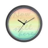 """Now is still here"" Wall Clock"