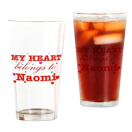 I love Naomi Drinking Glass