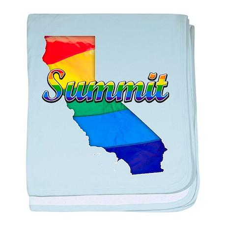 Summit, California. Gay Pride baby blanket