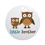 Little Brother - Mod Owl Ornament (Round)