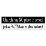 No Facts in Church Car Sticker