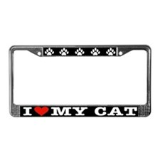 Funny Cat human License Plate Frame