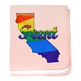 Trent, California. Gay Pride baby blanket
