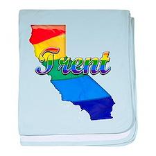 Trent, California. Gay Pride baby blanket