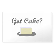 Got Cake? T-shirt Rectangle Decal