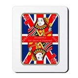 Queen of diamonds Jubilee 2012 Mousepad