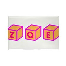 Zoe Blocks Rectangle Magnet (100 pack)
