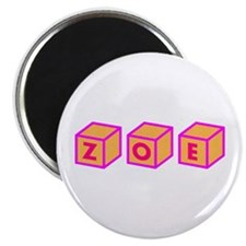 "Zoe Blocks 2.25"" Magnet (10 pack)"