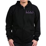 Bridesmaid Hearts Zip Hoodie (dark)