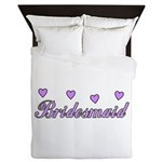 Bridesmaid Hearts Queen Duvet