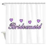 Bridesmaid Hearts Shower Curtain