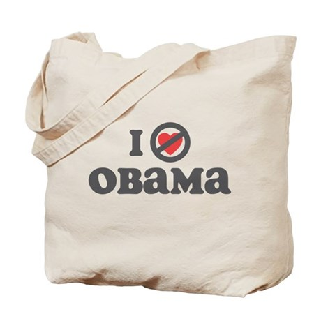 Don't Heart Obama Tote Bag