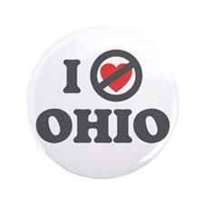 "Don't Heart Ohio 3.5"" Button (100 pack)"