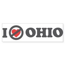 Don't Heart Ohio Bumper Sticker