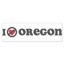 Don't Heart Oregon Bumper Sticker