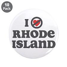 """Don't Heart Rhode Island 3.5"""" Button (10 pack)"""