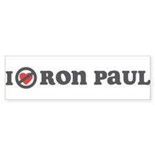 Don't Heart Ron Paul Bumper Sticker
