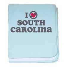 Don't Heart South Carolina baby blanket