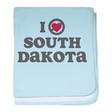 Don't Heart South Dakota baby blanket