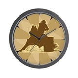 Wall Clock Barrel racing