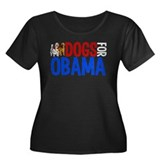Dogs for Obama Women's Plus Size Scoop Neck Dark T