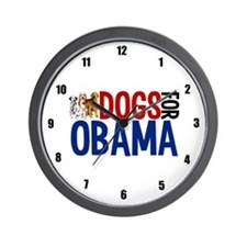 Dogs for Obama Wall Clock