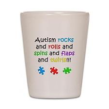 Autism Rocks Shot Glass