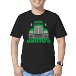 Trucker James Men's Fitted T-Shirt (dark)