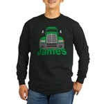 Trucker James Long Sleeve Dark T-Shirt